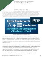 Instalando e Configurando o Citrix XenServer 6