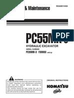 Komatsu PC55MR-3 Operators Manual