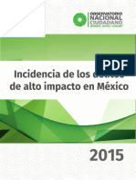 Incidencia de los delitos de alto impacto en México 2015