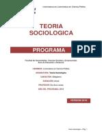 Programa de Teoria Sociologica