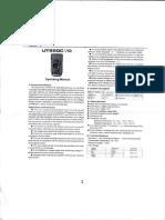 Manual Multimeter Uni-T UT890D
