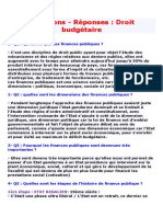 Questions Finance Publique