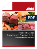 Processed Meats- Convenience, Nutrition, Taste