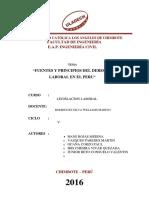 LEGISLACION laboral en ing civil