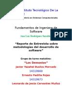 Métodologias usadas en el desarrollo de software (Entrevista)
