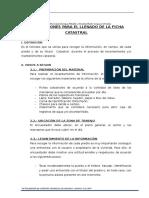 5.- Instrucciones Para El Llenado de Las Ficha Catastral