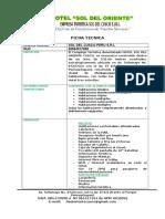 Ficha Tecnicas y Politicas de Reservas -2016