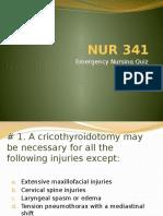 Emergency Nursing Quiz B