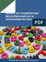 Modelo de Competencias Del Profesorado en La Universidad de Deusto.