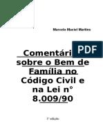 2600315 Comentarios Sobre o Bem de Familia No Codigo Civil e Na Lei 800990