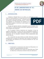 Informe n 01-Reynolds Mec. Fluidos II