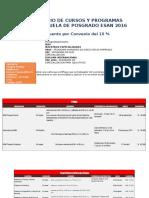Calendario Escuela de Negocios ESAN- Agosto