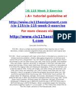 DEVRY CIS 115 Week 3 Exercise.doc