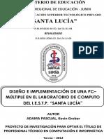Proyecto Complementación de Pc Múltiple en el laboratorio de computo