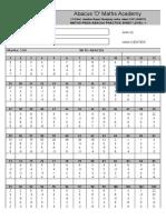 Mathopedia Abacus Competiation Sample Papper