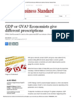 GDP or GVA_ Economists Give Different Prescriptions _ Business Standard News