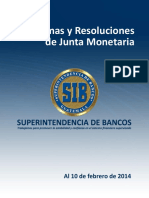 Disposiciones de la Junta Monetaria