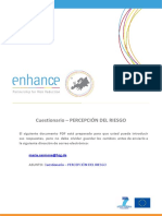 Spanish Questionnaire- Cuestionario Per Cepci n Del Riesgo Proyecto Enhance
