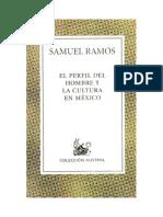 Ramos Samuel - El Perfil Del Hombre Y La Cultura en Mexico