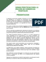 GUÍA DE BUENAS PRÁCTICAS PARA LA ELABORACIÓN DE CONSERVAS