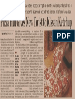 ET Pizza Hut Gives New Twist to Kissan Ketchup Tcm1255 434990