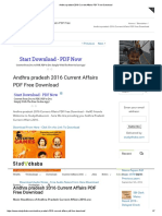 Andhra Pradesh 2016 Current Affairs PDF Free Download