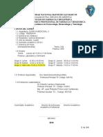 Silabus Quimica Medicinal II