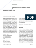 Ground Motion Estimation in Delhi From Postulated Regional and Local Earthquakes
