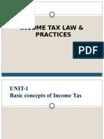 Income Tax Unit 1