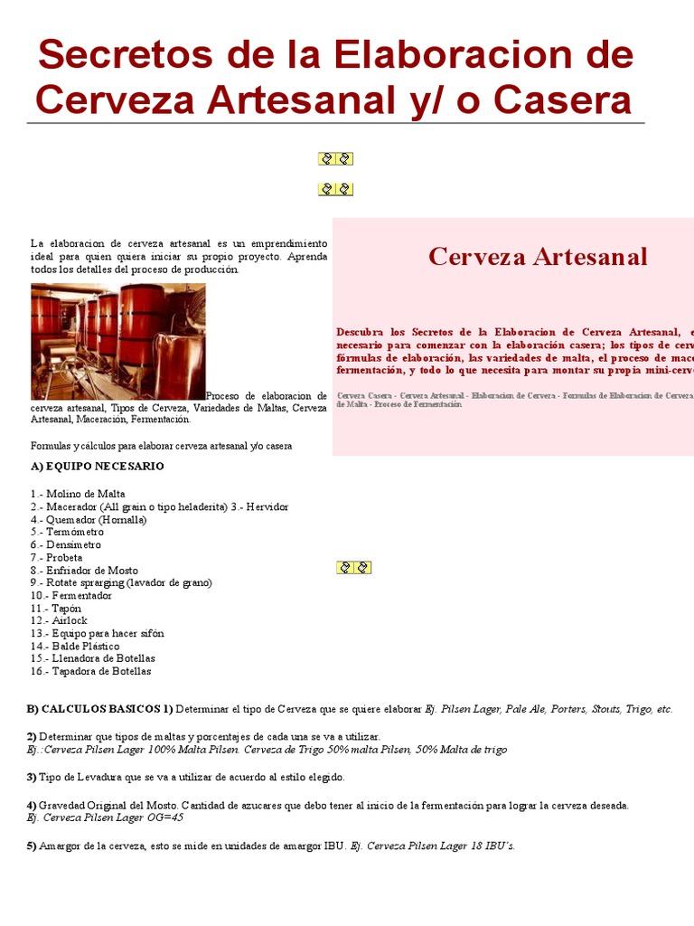 Secretos de La Elaboracion de Cerveza Artesanal y(2)