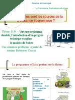 thème 1134- Vers une croissance durable  l'analyse de Solow.ppt