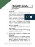 02.01 Especificaciones Tecnicas - Agua Potable II Etapa