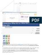 Comparativa Office 2003-2013