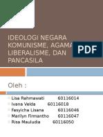 Ideologi Negara Komunisme, Agama, Liberalisme,