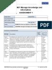 BSBINM601 Assessment 1