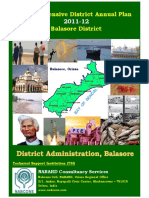 Comprehensive District Annual Plan 2011-12 Balasore District