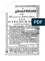 Complete History of Magic k Sorcery and Witchcraft 1715