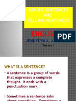 Asking Sentences & Telling Sentences