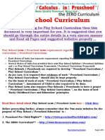 Play School Curriculum