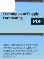Techniques of Supply Forecasting