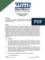 Wagner-Meinert Disciplinary Program