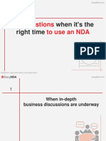 When to use non-disclosures