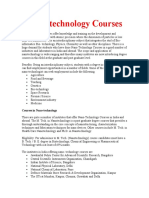 Nano Technology Courses