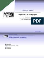 Théorie de langages-Alphabets