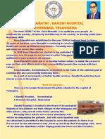 Sevabharathi Gandhi hospital activity Brouchure