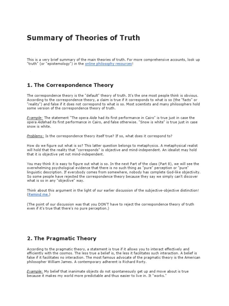 pragmatic theory example