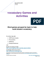 FCE Vocabulary Games and Activities