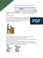 Posturas Corporales Correctas en El Trabajador