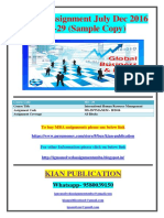 MS-29 JULY DECEMBER 2016 SOLVED ASSIGNMENT