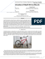 Design and Fabrication of Shaft Driven Bicycle